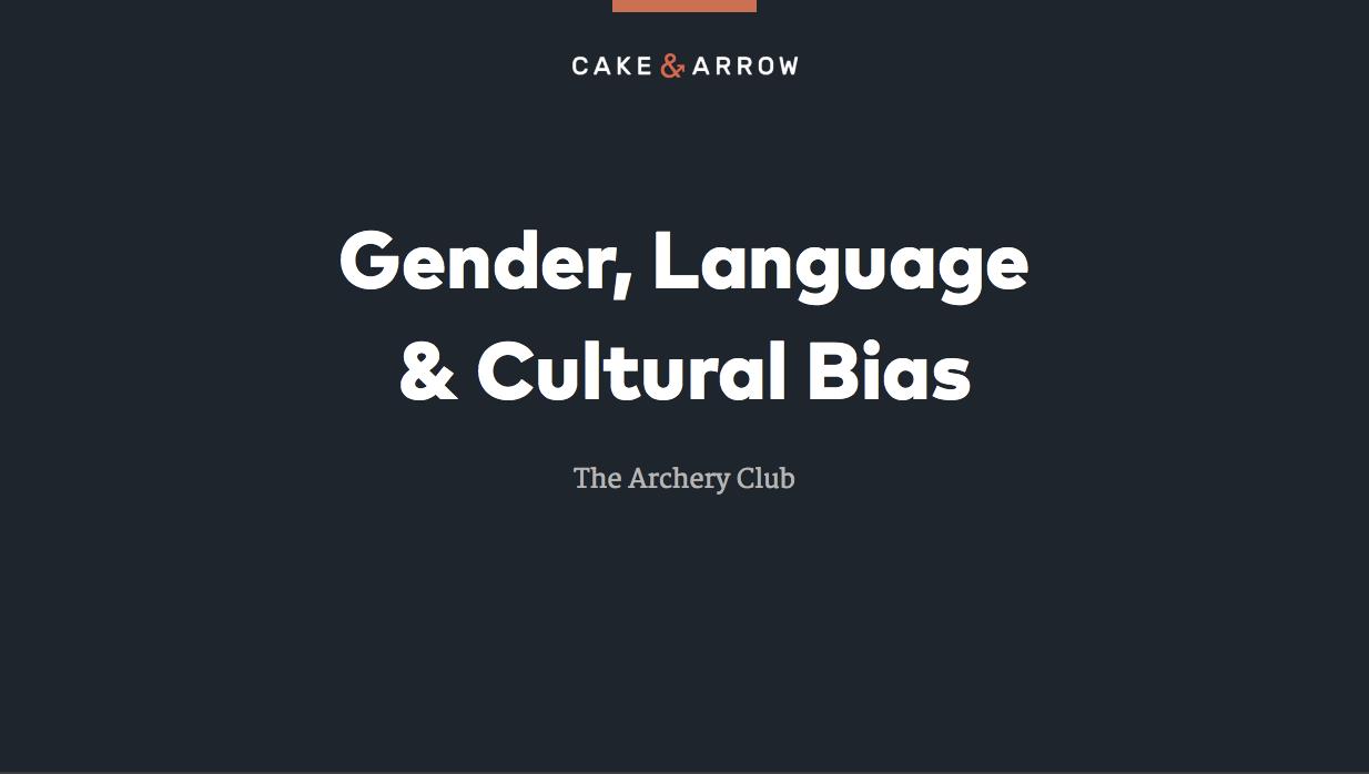 Gender, Language, & Cultural Bias